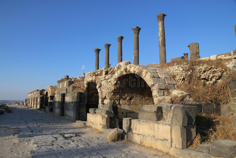 House in Om Qays, Jordan royalty-vrije stock foto