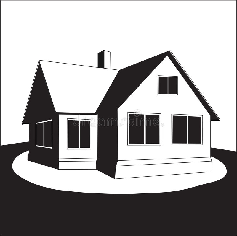 Free House On A Hill. Vector. Royalty Free Stock Image - 8540026