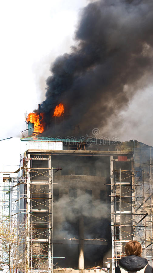 Free House On Fire . Stock Photos - 14328703