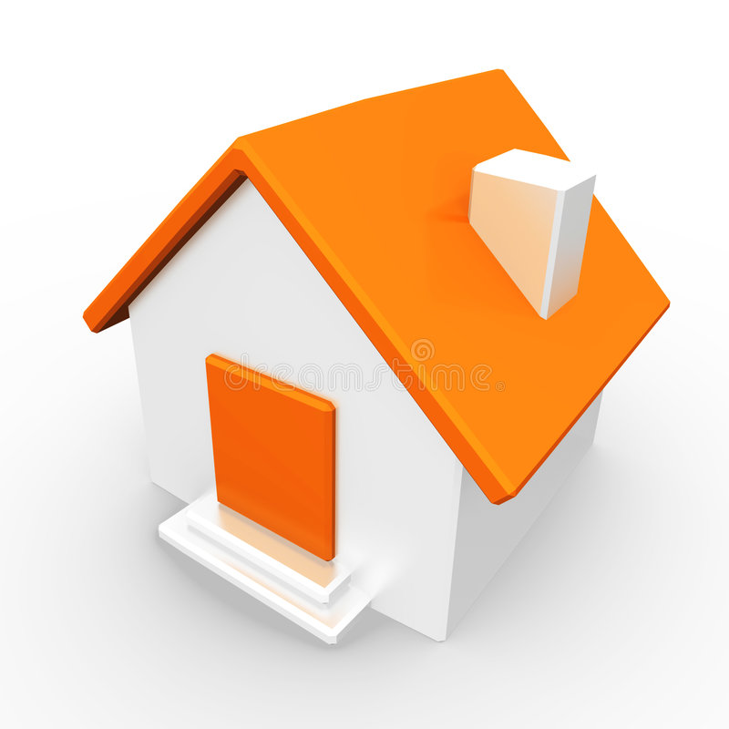 Download House with orange roof stock illustration. Illustration of graphic - 5384756