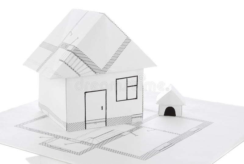 House origami draft royalty free stock photo