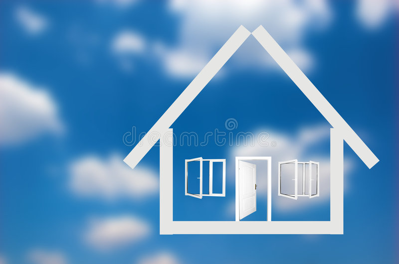 Download House outline stock image. Image of beautiful, field, building - 1763467