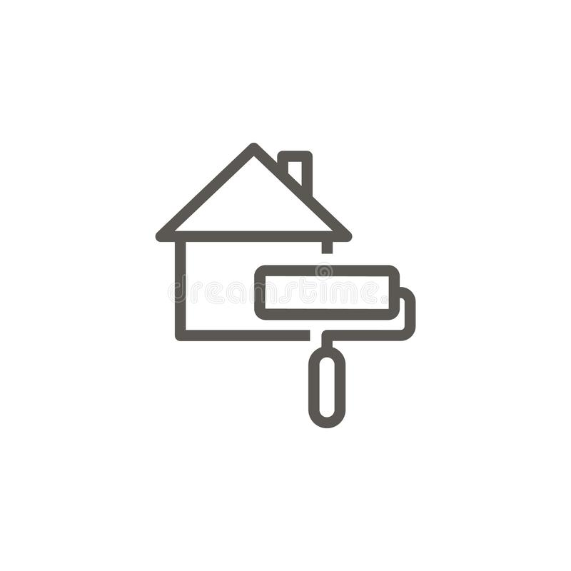 House, paint vector icon. Simple element illustration from UI concept. House, paint vector icon. Real estate concept vector stock illustration