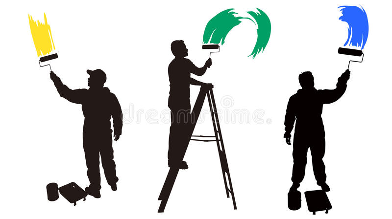 Download House painter stock illustration. Illustration of worker - 14554709