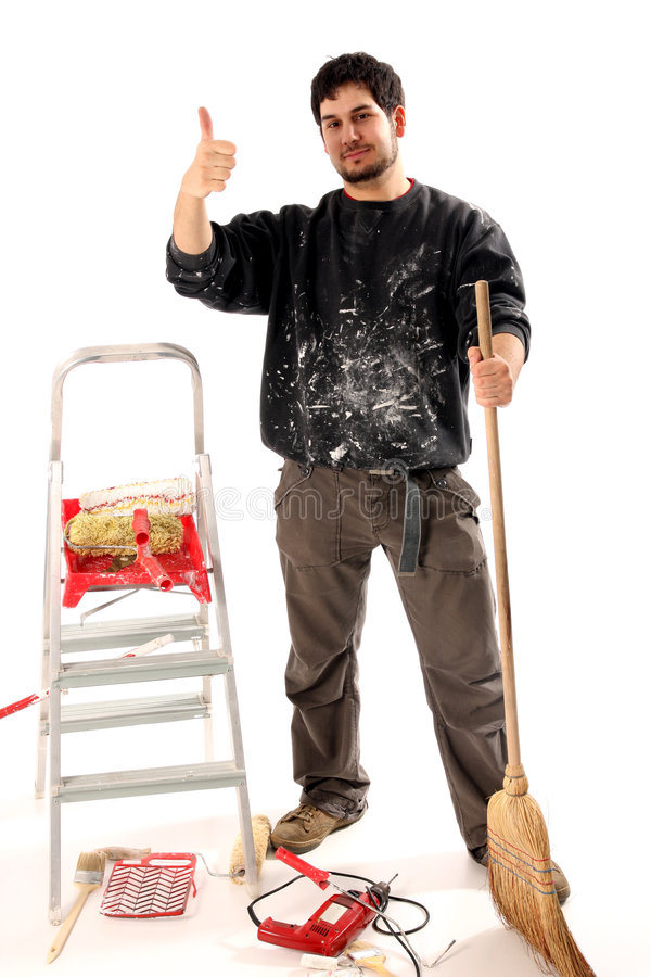 House painter royalty free stock image