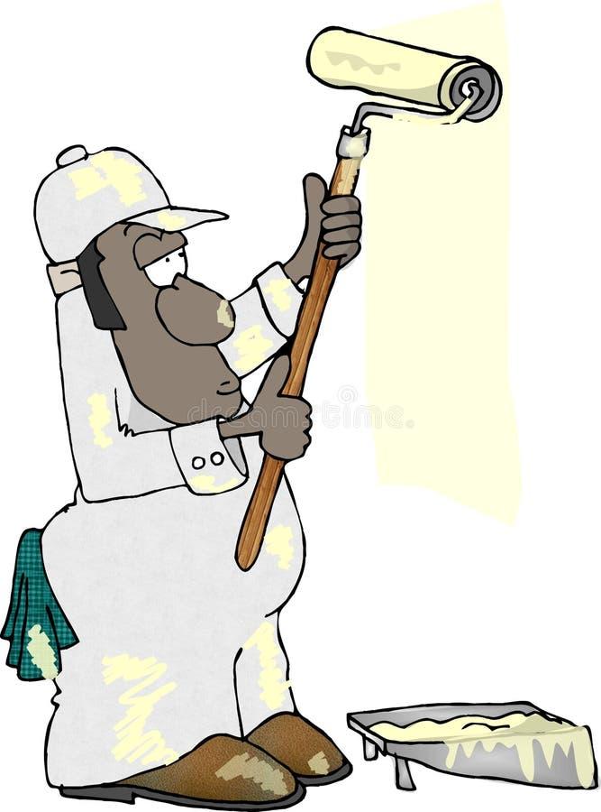House painter royalty free illustration