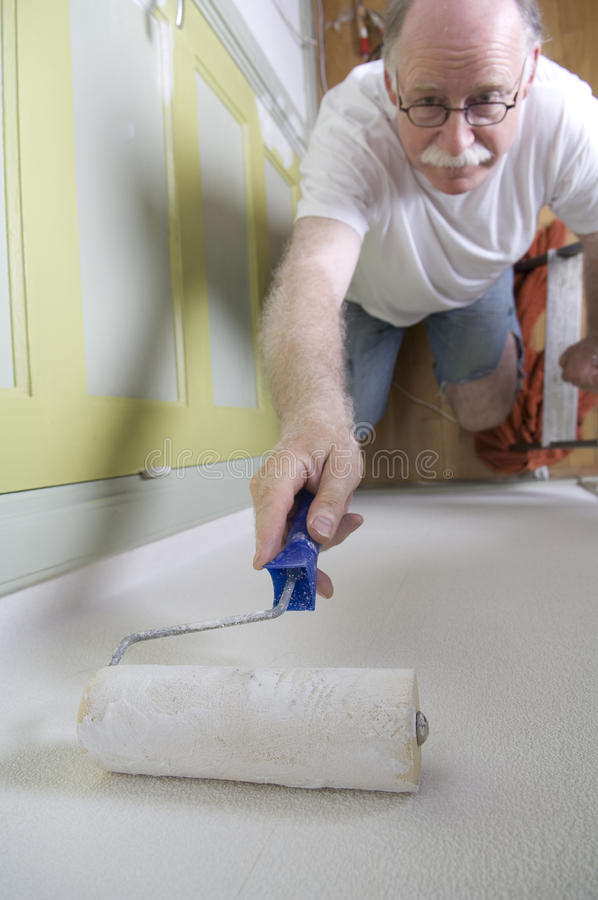 Download House painter with roller stock photo. Image of caucasian - 15145292