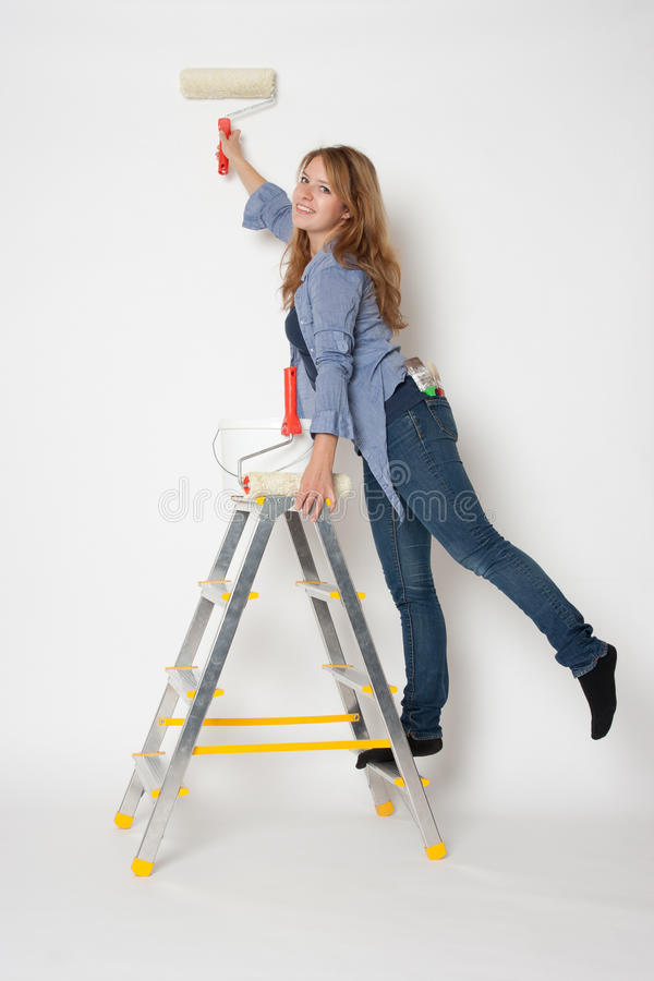 Download House painter woman stock image. Image of young, smile - 20975981