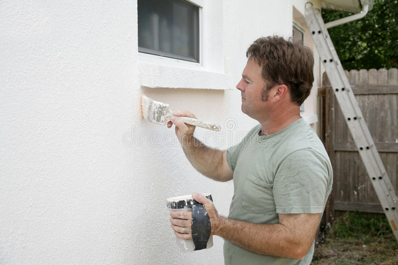 Download House Painter Working stock image. Image of collar, effort - 1051981