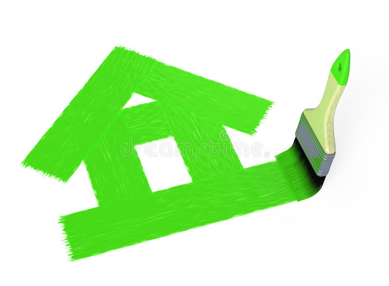 Download House painting stock illustration. Image of design, background - 27280543