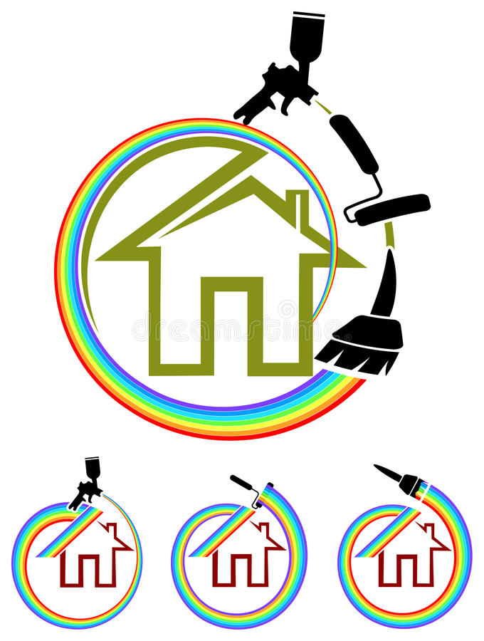 House painting vector illustration