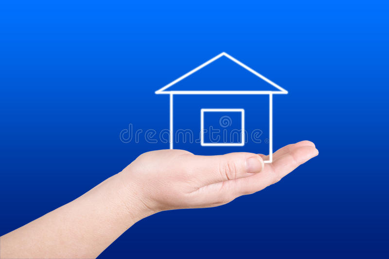The House On A Palm Royalty Free Stock Photo