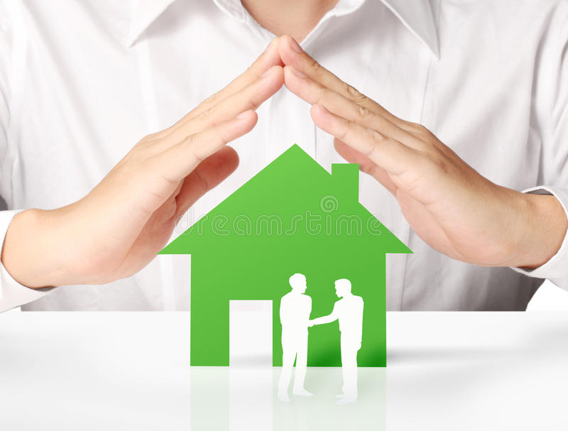 Download House Of Paper In Hand Royalty Free Stock Images - Image: 32351099
