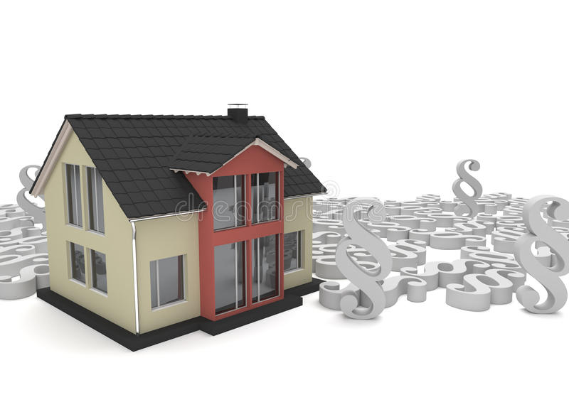House Paragraphs. House with white paragraphs on the white royalty free illustration