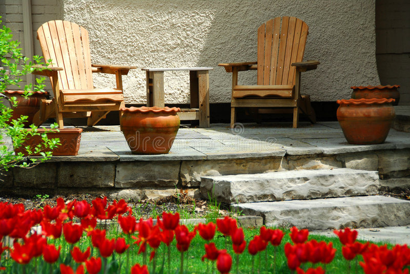 House patio royalty free stock image