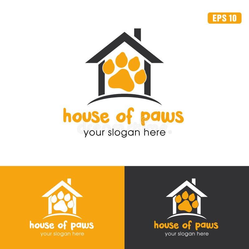 House Of Paws Logo / Icon Vector Design Business Logo Idea royalty free illustration
