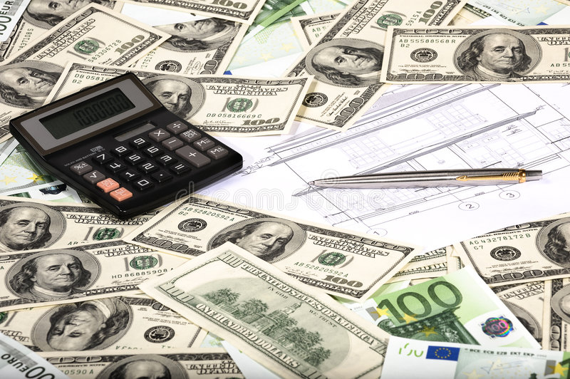 House payments calculation stock photography