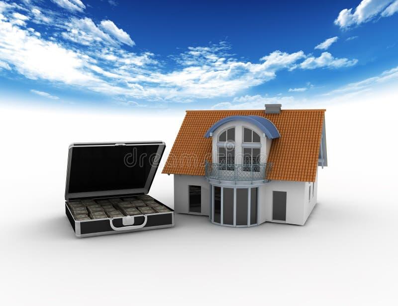 house pengar vektor illustrationer