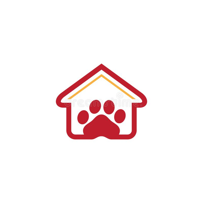 House pet shop logo business royalty free stock photography