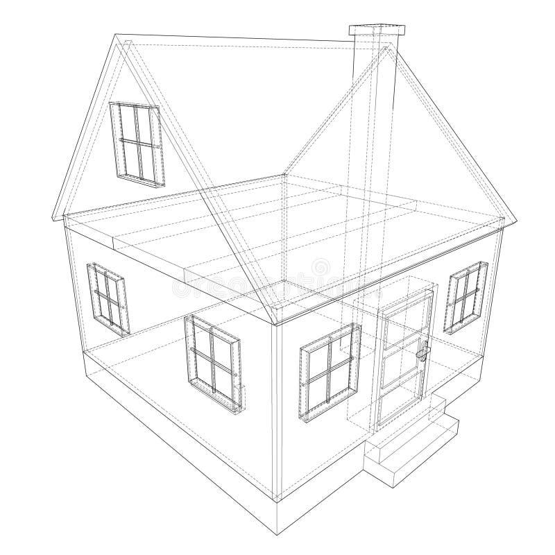 House plan stock illustration