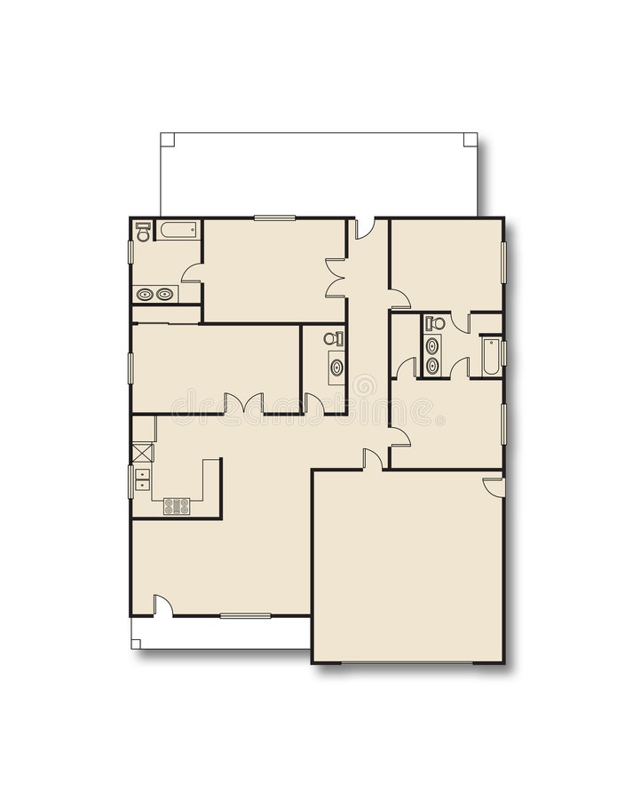 House Plan stock illustration