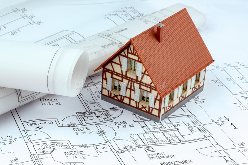 A house plan royalty free stock photography