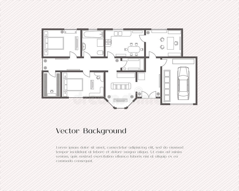 House plan background stock vector illustration of frame for House plans with real photos