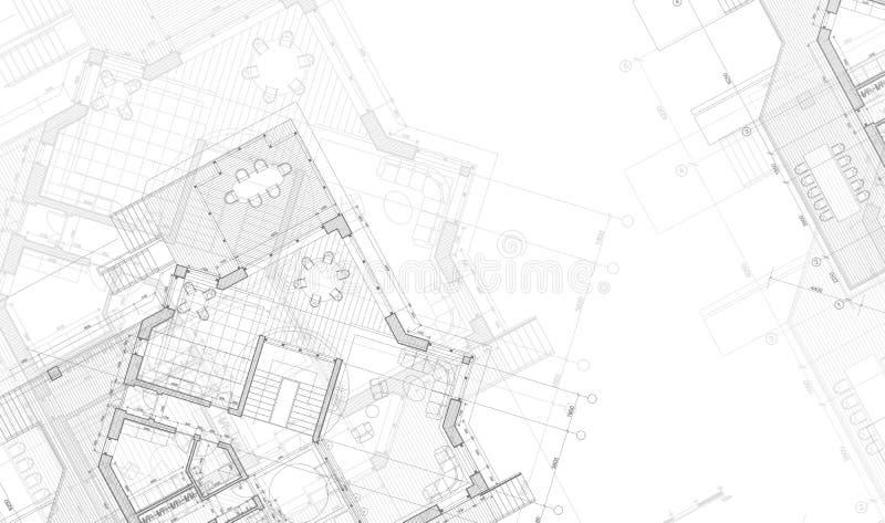 House plan blueprint royalty free illustration