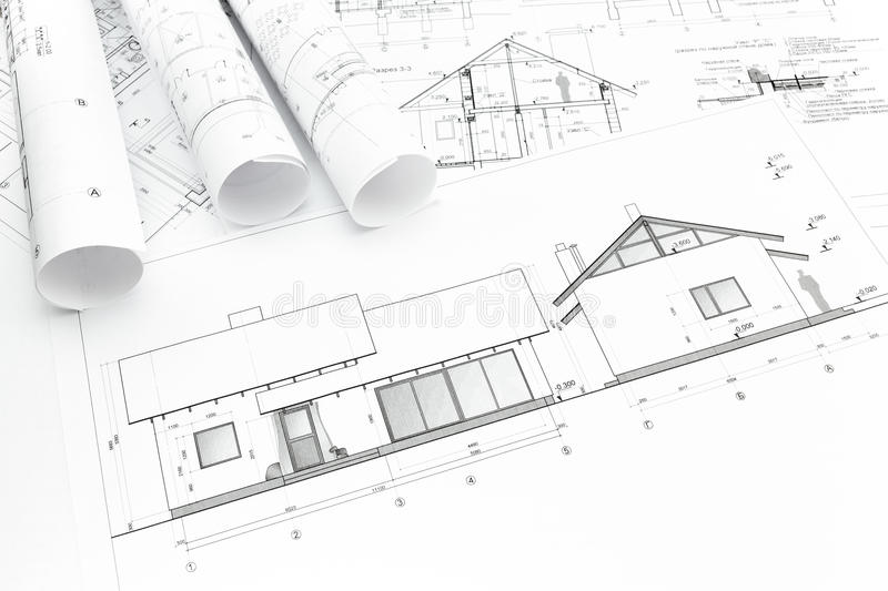 New Home Construction Plans house plan blueprint stock photo - image: 39324323