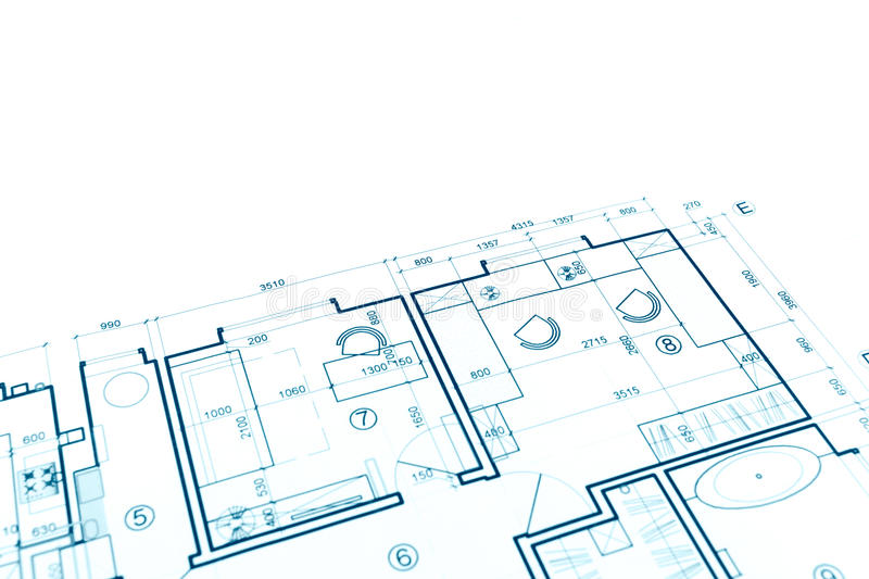 Download House Plan Blueprint, Construction Plan, Part Of Architectural P  Stock Photo   Image