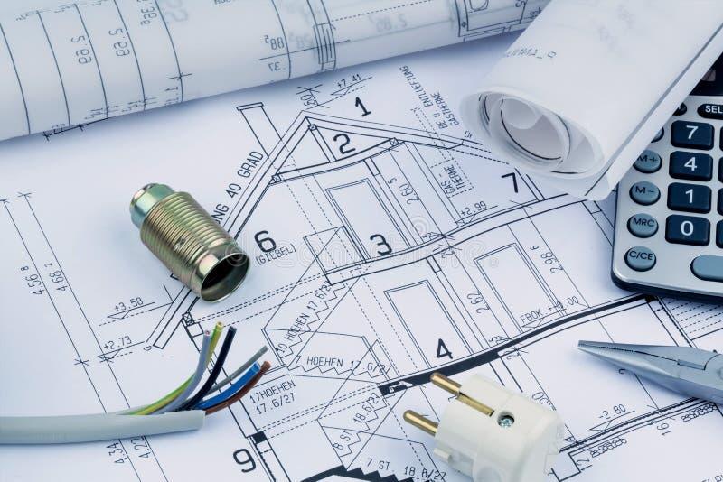 A house plan. electrical royalty free stock photos
