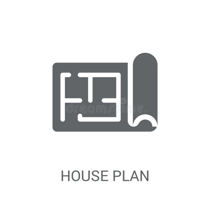 House plan icon. Trendy House plan logo concept on white background from Real Estate collection stock illustration