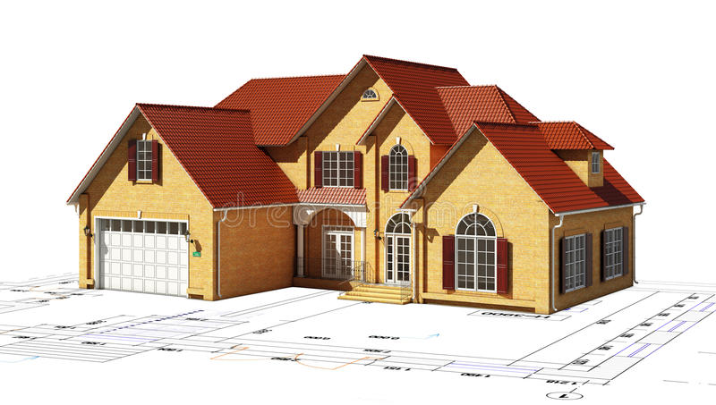 Download House and plan  territory stock illustration. Illustration of house - 25241427