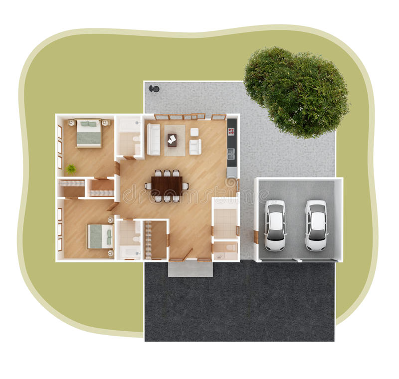 House plan top view royalty free illustration