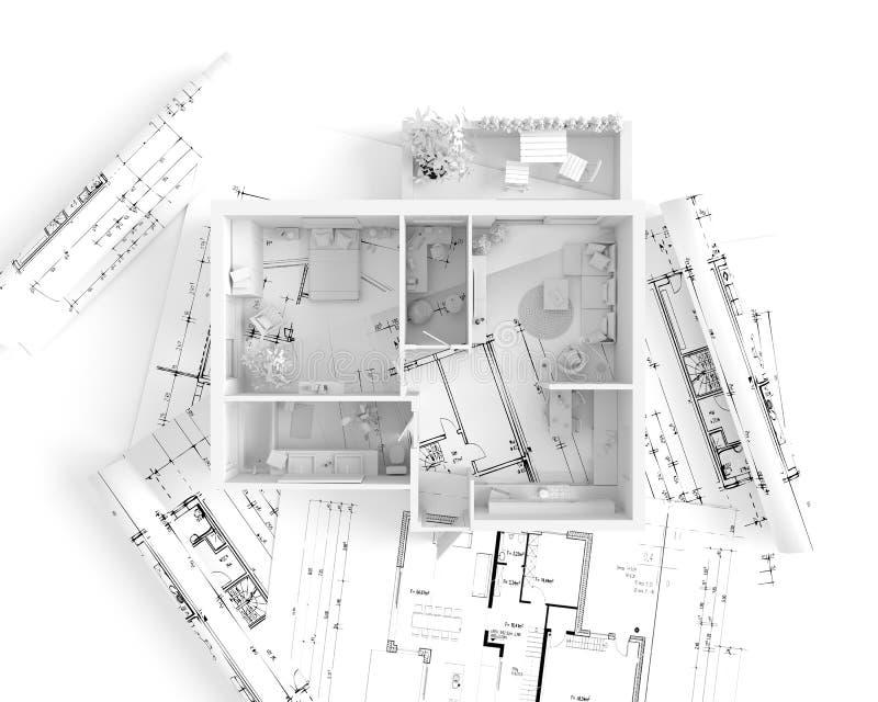 House Plan Top View Interior Design Illustration – Top House Plan Sites