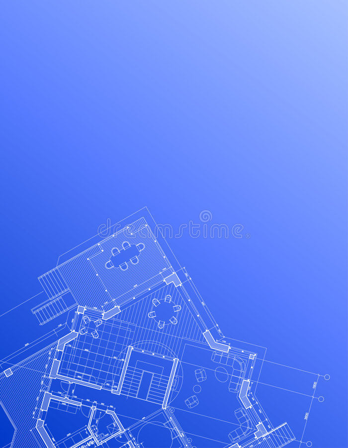 House plan: vector background royalty free illustration