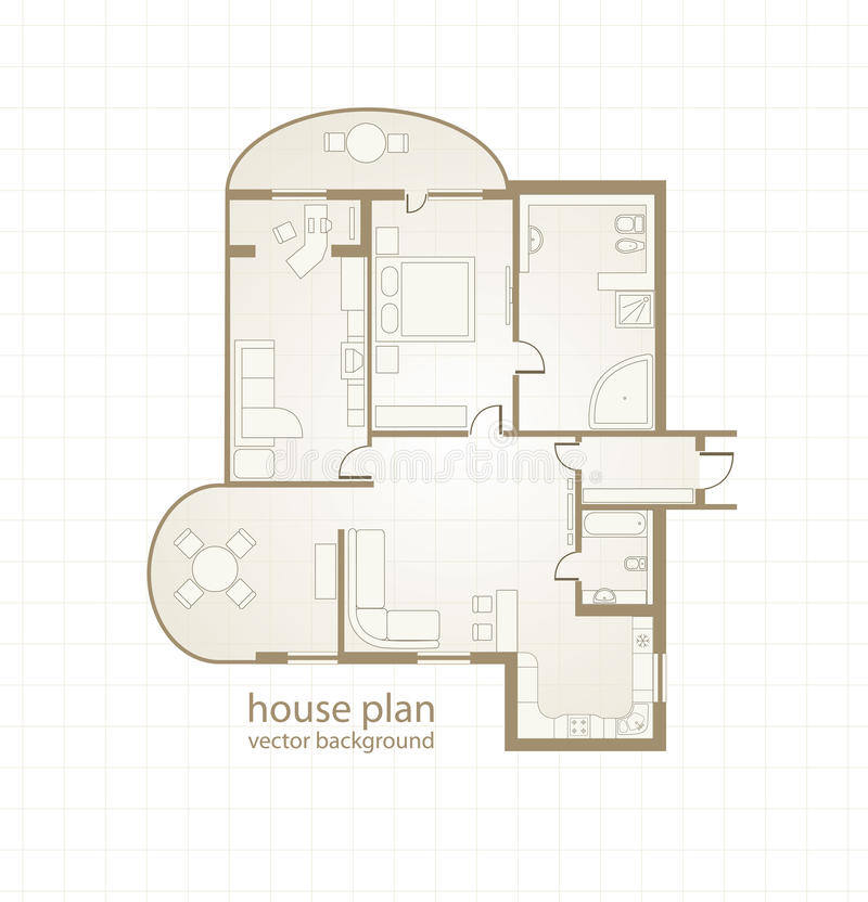 House Plan. Vector Illustration Stock Vector - Illustration of ...