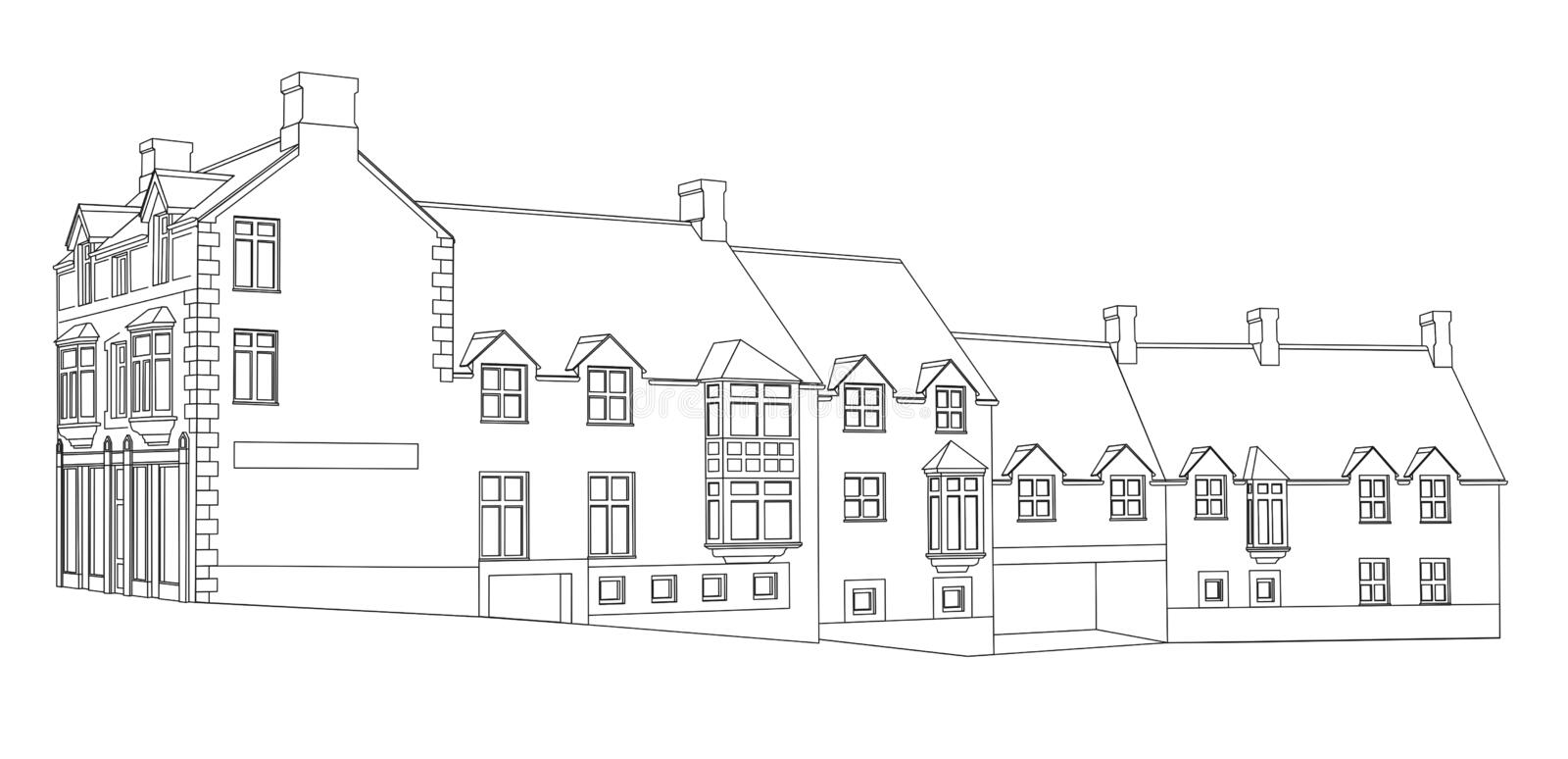 House Plan View 1 Royalty Free Stock Photography