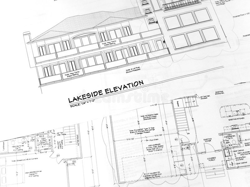 House plans-1 royalty free stock photo