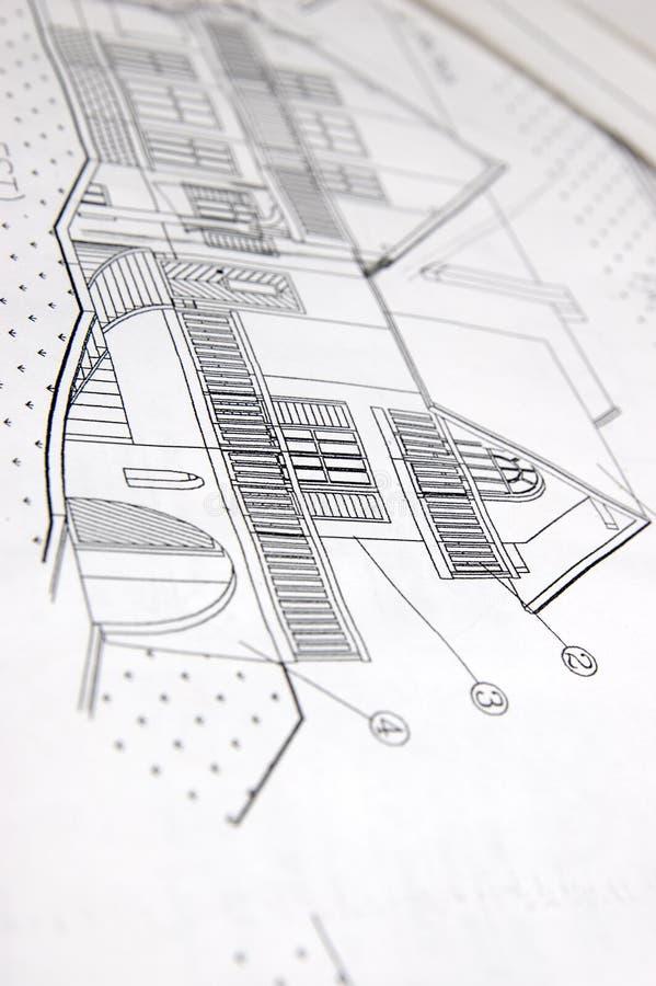 House plans stock photo