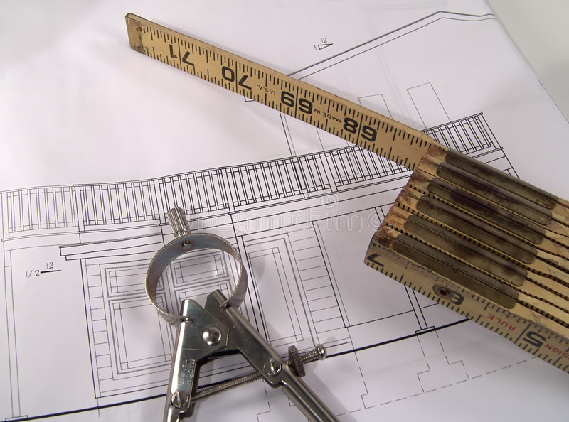 Download House Plans 3 stock image. Image of drafting, protractor - 11465