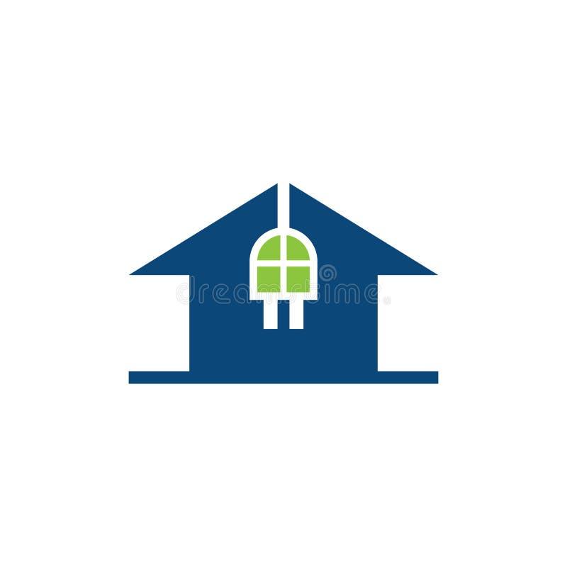 House plug electrical business logo royalty free stock image