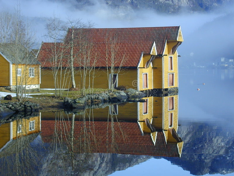 house po norwesku zdjęcia stock