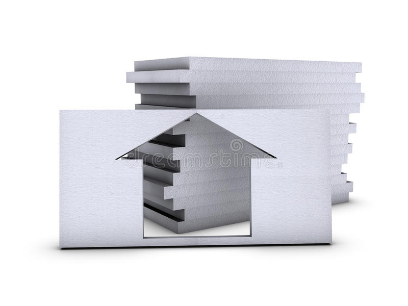 Download House In Polystyrene Royalty Free Stock Photography - Image: 12386707
