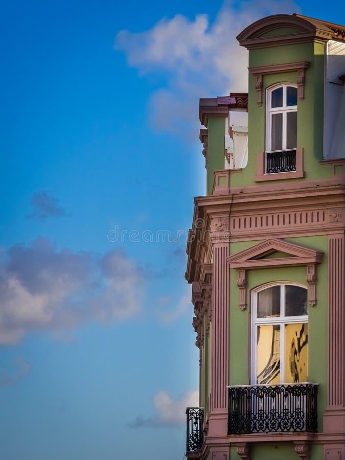House in Ponta Delgada stock photos