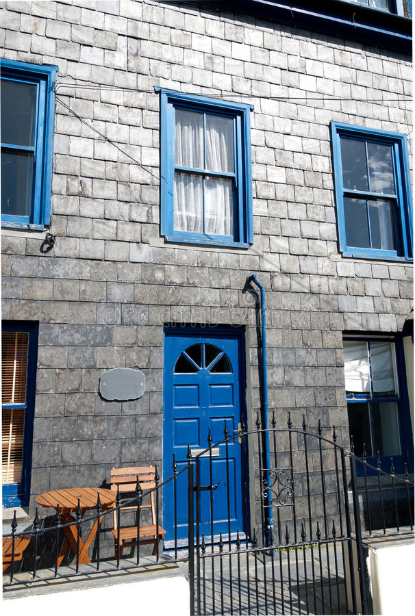 Download House in Port Isaac stock photo. Image of blue, britain - 21789968