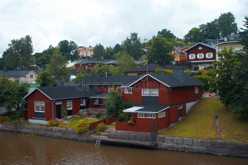 House in Porvoo stock photography