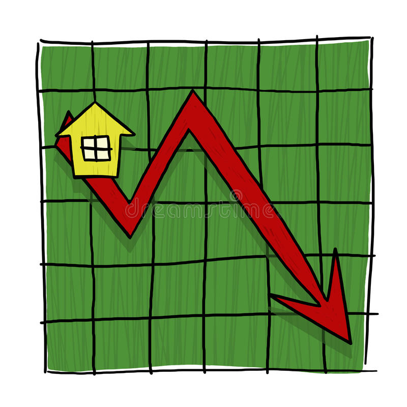 Download House Prices Going Down Illustrated Graph Stock Illustration - Image: 27543448