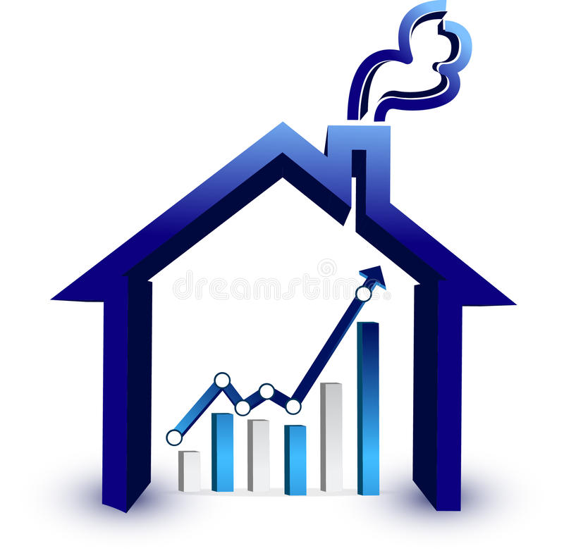 House prices graph stock illustration