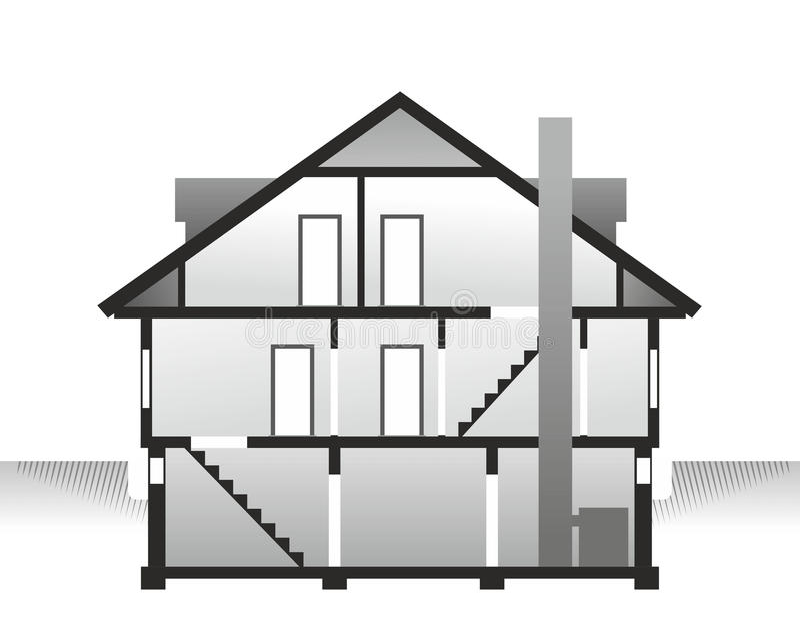 House profile stock illustration